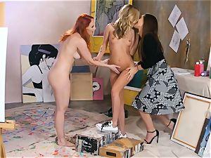 Dani Karla and Crystal loves 3some all girl enjoy