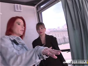 super-hot Ava Courcelles and Julie Share hook-up fucktoys in public