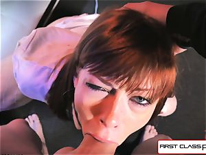 very first Class point of view - Alexa Nova inhaling a huge pecker in pov