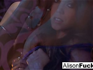 Alison posing bare in sofa