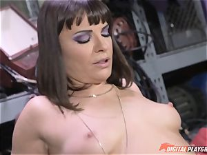 Dana DeArmond gets her beautiful cock-squeezing cooch ate and toyed with
