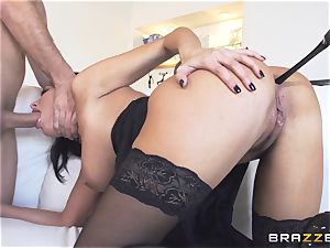 Maid Anissa Kate getting her edible butt romped by a yam-sized wood