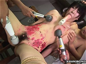 chinese bitch likes to be domination & submission treated to a paraffin wax demonstrate