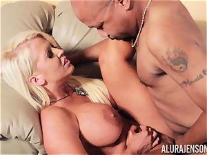 Alura Jenson slammered plums deep and receives super-hot super-hot internal ejaculation