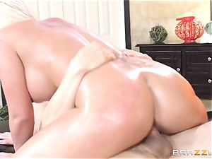 Leya Falcon cheats with her giant dicked masseuse