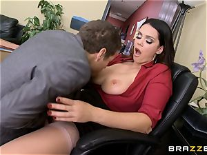 Alison Tyler gets her obese pussy dicked in the office