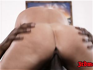 unbelievable cougar interracially penetrated stiff