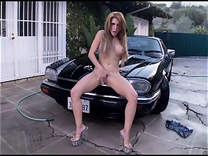 Randy Alexa Nicole torments her dripping pantie pot