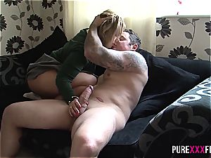 Skanky stepdaughter shagged by parent