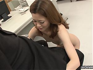 Office worker getting gash porked on the table