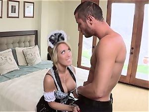 hot maid Capri Cavanni gives her boss some extras
