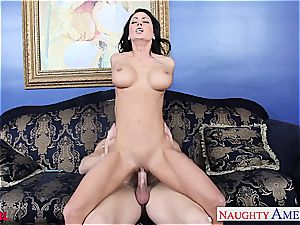 off the hook Jessica Jaymes blows and ravages his hefty member