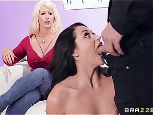 busty mom helps stepdaughter during pornography audition