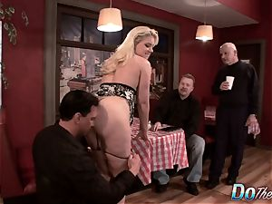 light-haired wifey bootie pulverized as Cuck witnesses