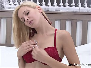 ash-blonde cutie Candy jiggly Striptease and