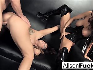 3-way gonzo feisty orgy with Alison