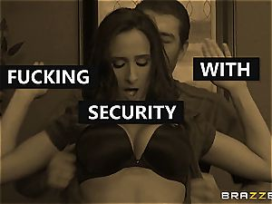 Ashley Adams gets nailed by two cops